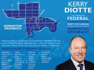 Kerry Diotte for Edmonton-Griesbach - Brochure Outer