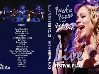 """Paula Perro & the Project: Live at Festival Place"" DVD Packaging - Outer Wrap"