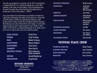 """""""Paula Perro & the Project: Live at Festival Place"""" DVD Packaging - Folded Insert Inner"""